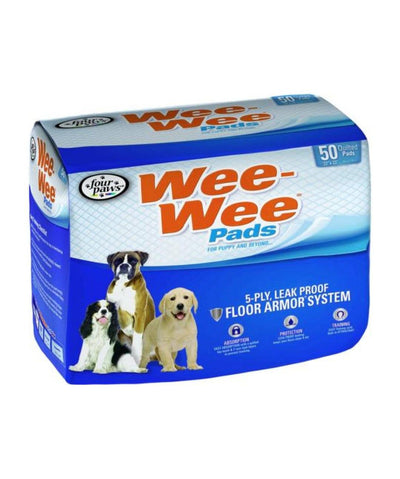 Four Paws Wee-Wee Training Pee Pads - 50 Count Puppy Pads Rover 50 Count
