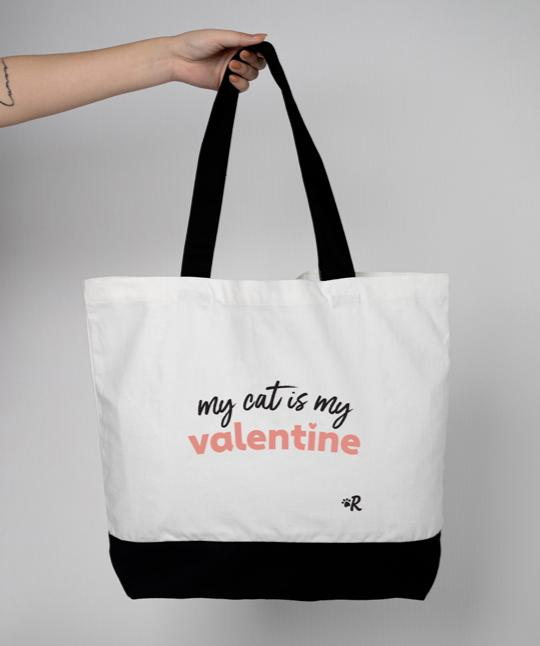 'My Cat Is My Valentine' Tote Bag
