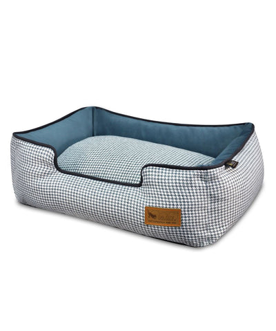 P.L.A.Y. Houndstooth Lounge Dog Bed (2 Colors) Dog Bed PLAY S Blue