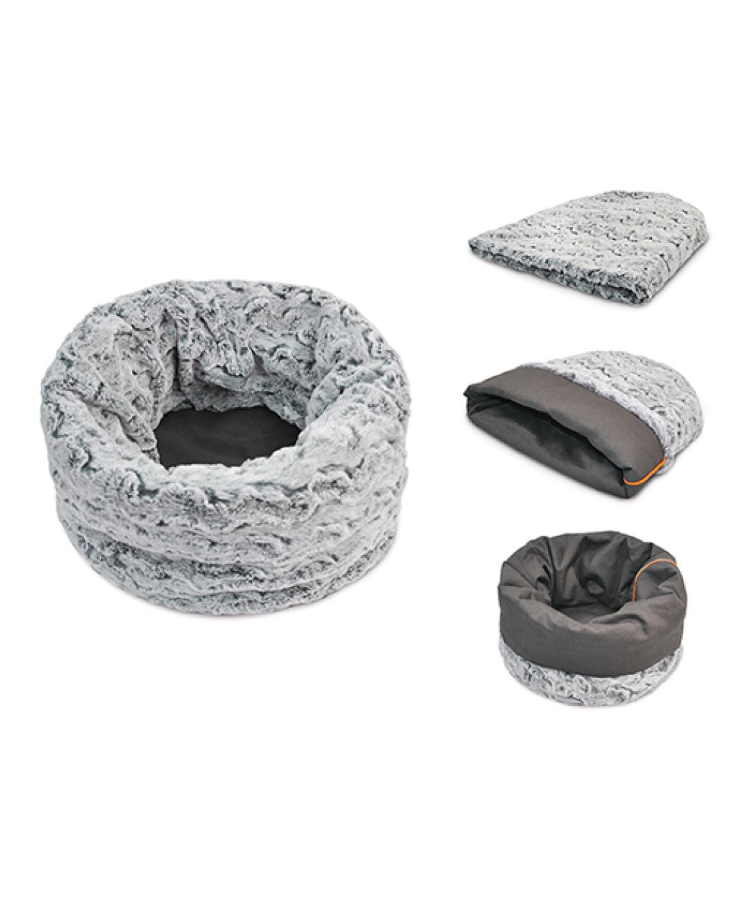 P.L.A.Y. Snuggle Pet Bed (2 colors) Dog Bed PLAY S Husky Gray