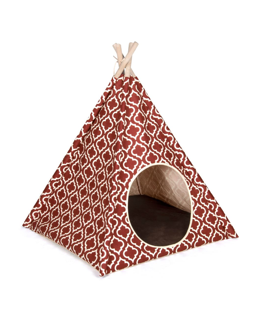 P.L.A.Y. Tent Pet Bed (3 Styles) Dog Bed PLAY Moroccan Marsala