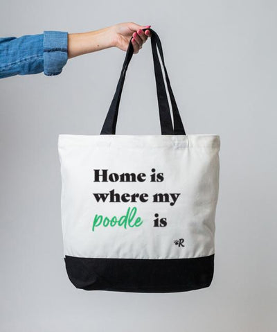 Poodle 'Home Is Where' Tote Tote Rover Store
