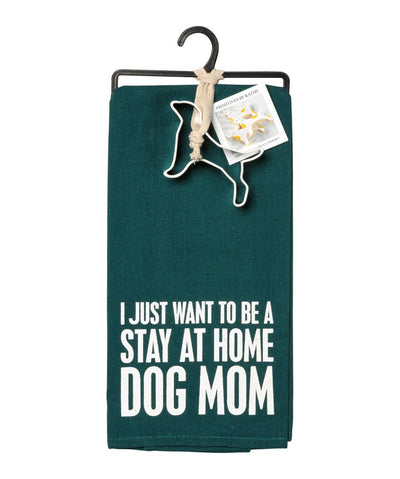 'Stay At Home Dog Mom' Tea Towel & Cookie Cutter Set Tea Towel Rover