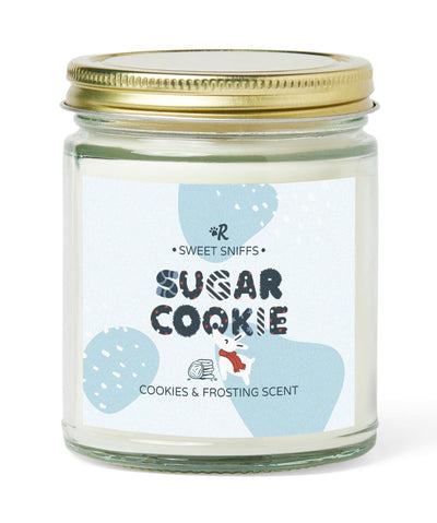 'Sugar Cookie' Cookies & Frosting Scented Soy Candle Candle Printed Mint
