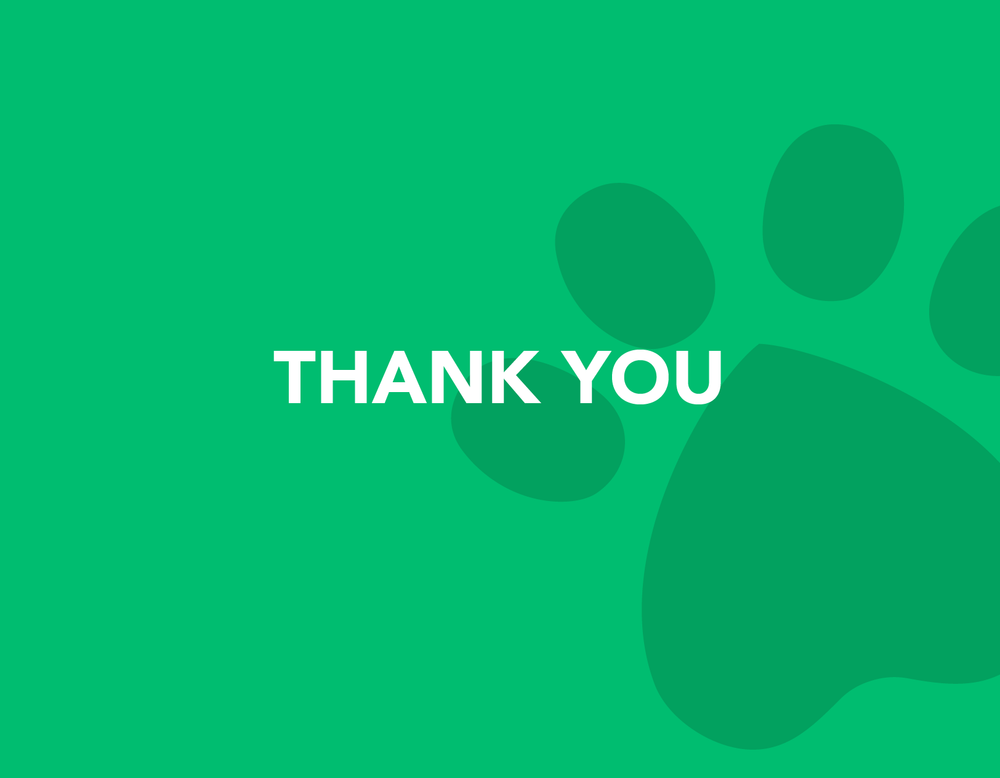 Thank You Cards - Paw Print