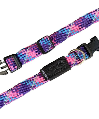 Wilderdog Reflective Climbing Rope Dog Collar Collar Wilderdog Razzleberry Small
