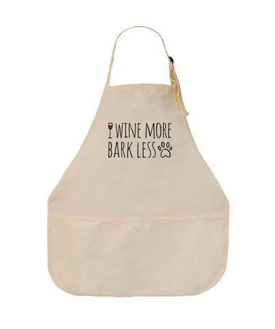 'Wine More, Bark Less' Apron Apron Printed Mint Canvas