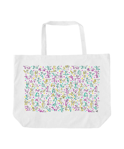 Yoga Dogs Tote (2 sizes) Tote Printed Mint Large