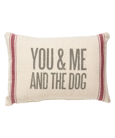 'You & Me And The Dog' Throw Pillow Pillow Rover