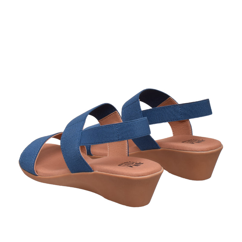Ainslie Two Band Elastic Sandal - Navy - DNAFOOTWEAR
