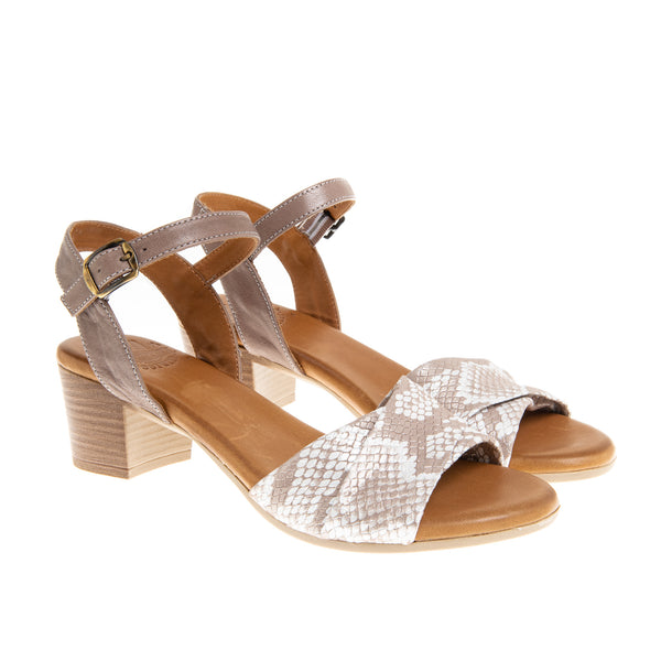 Astoria Mid Heel Sandal - Grey