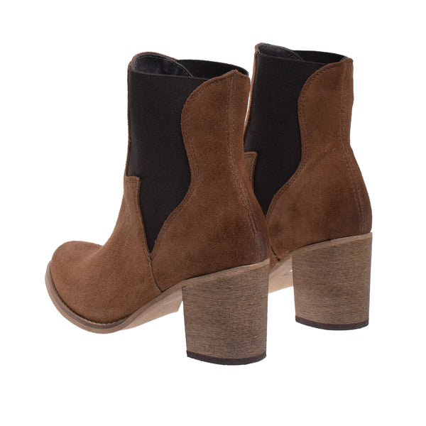 Auburn Suede Western Boot - Brown