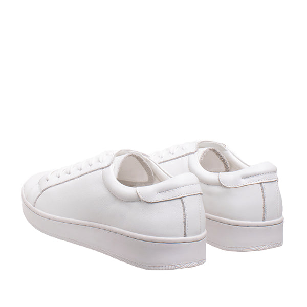 Bay Leather Sneaker - White