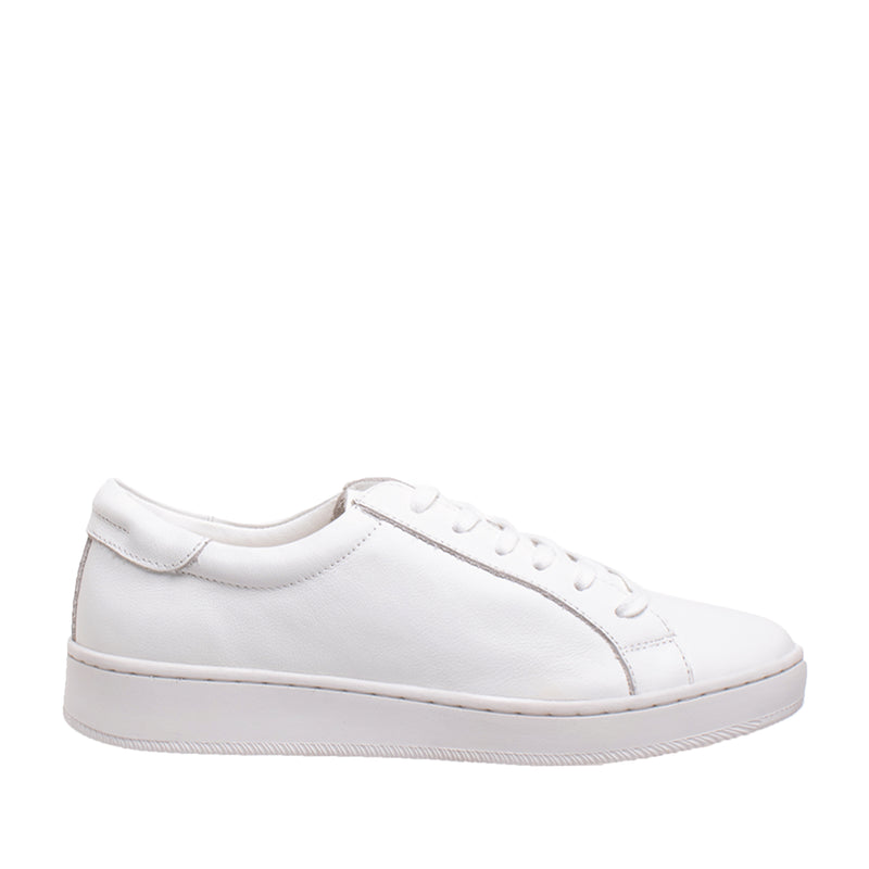 Bay Leather Sneaker - White - DNAFOOTWEAR