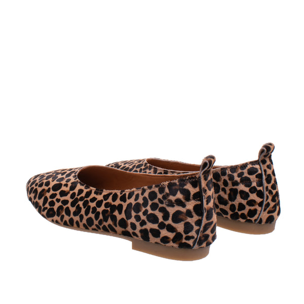 DNA Footwear Bijou Ballet Flat - Leopard Haircalf