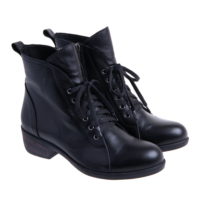 Women's Branton Lace Up Bootie - Black