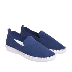Brighton Slip On Sneaker - Navy - DNAFOOTWEAR