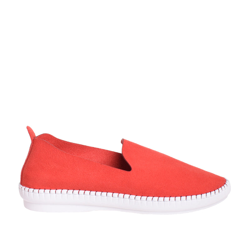 Brighton Slip On Sneaker - Red - DNAFOOTWEAR
