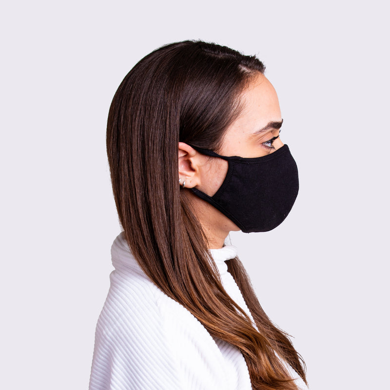 Cotton Facemask - Black