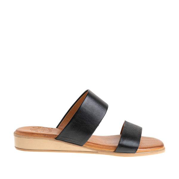 Women's Catherine Two Band Sandal - Black