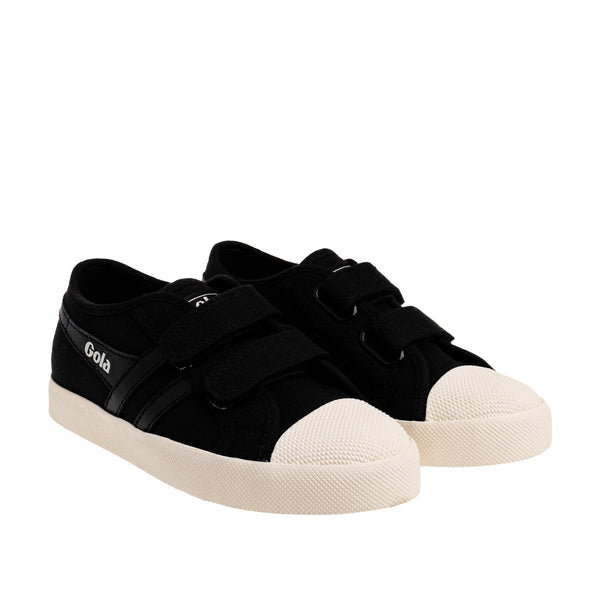 Classics Kids Coaster Strap Sneakers - Black/Black/Off White
