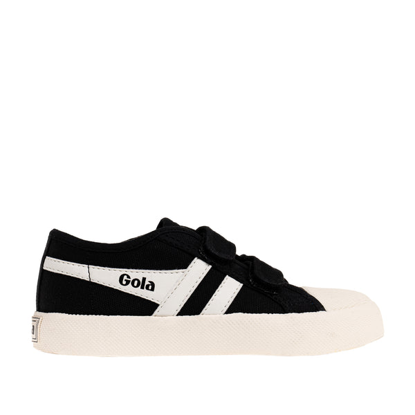 Classics Kids Coaster Strap Sneakers - Black/Off White