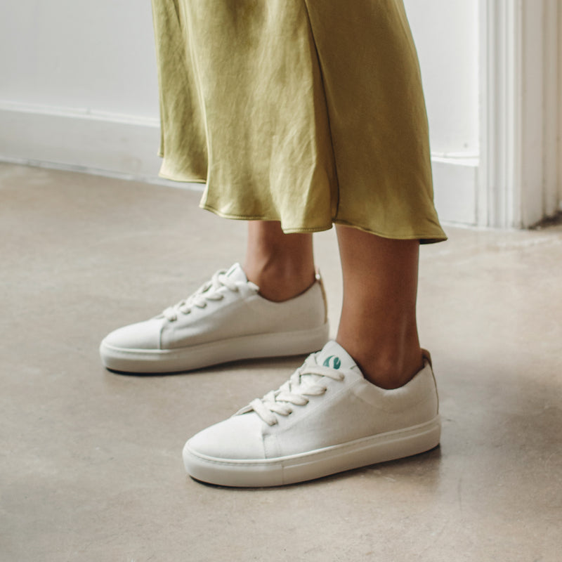 Willow Sustainable Lace Sneaker - Natural