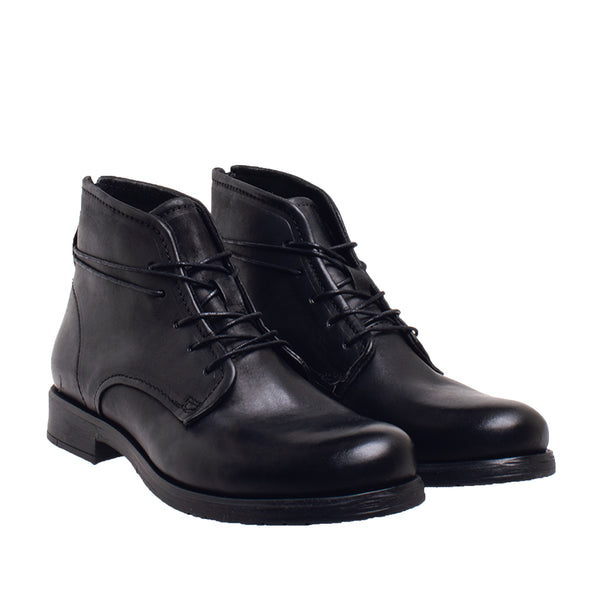 Dunham Long Lace Chukka Boot - Black