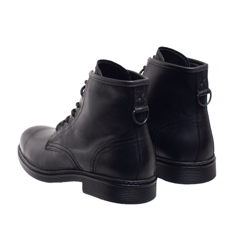 Dwight Lace Up Leather Boot - Black