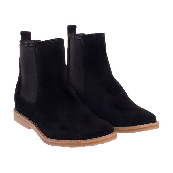 Ferris Hidden Wedge Chelsea Boot - Black