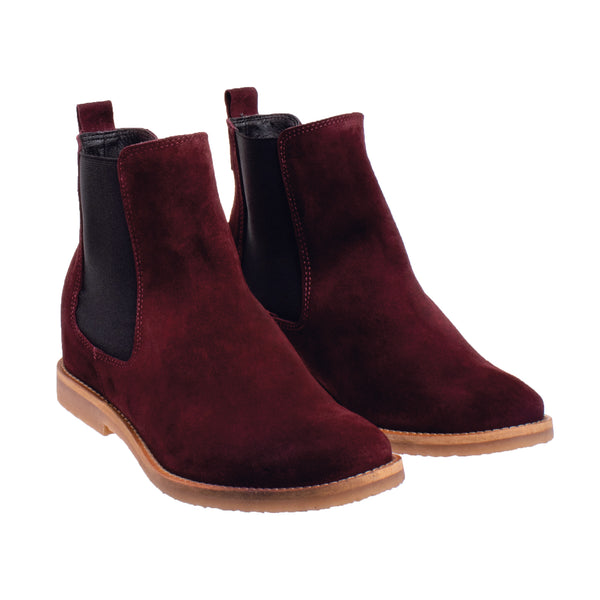 Ferris Hidden Wedge Chelsea Boot - Burgundy