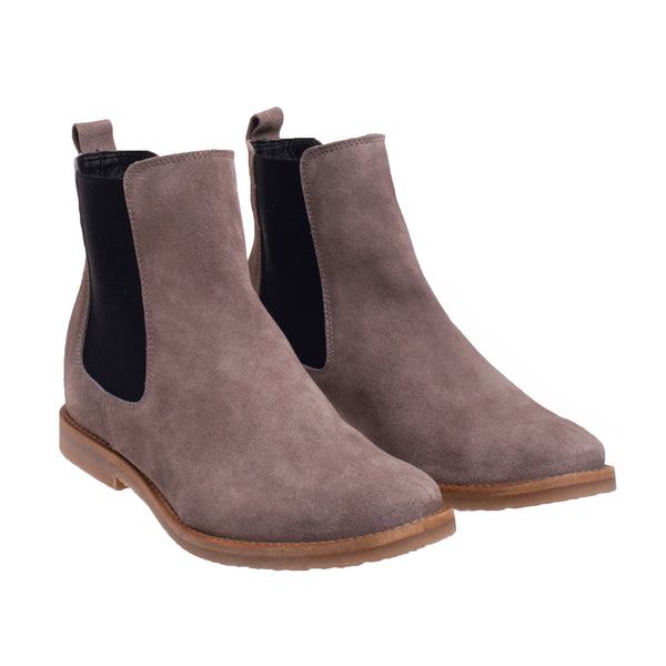 Ferris Hidden Wedge Chelsea Boot - Taupe