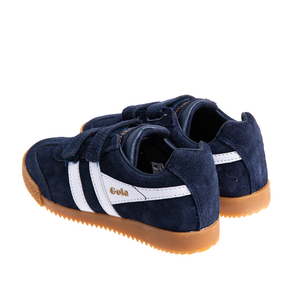 Youth Harrier Velcro Sneaker - Navy/White