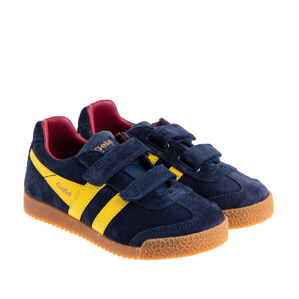 Youth Harrier Velcro Sneaker - Navy/Red