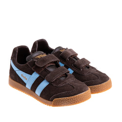 Youth Harrier Velcro Sneaker - Brown/Blue