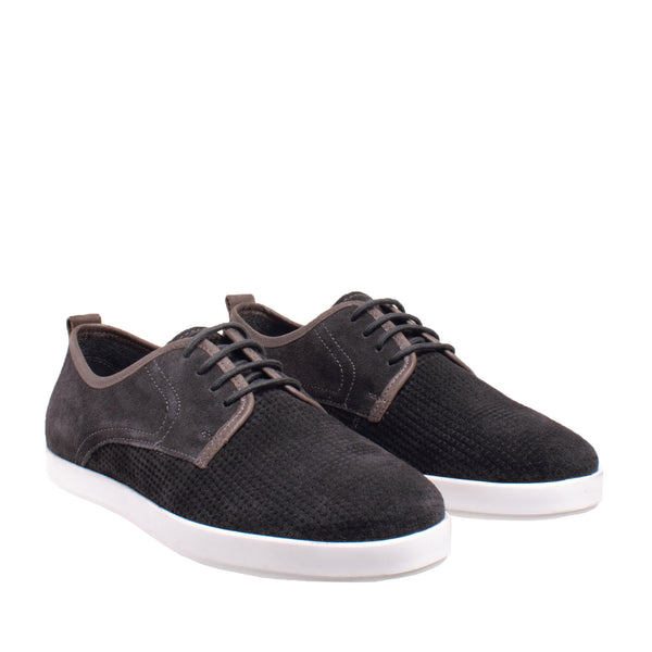 Lawrence Lace Up Suede Oxford Sneaker - Grey