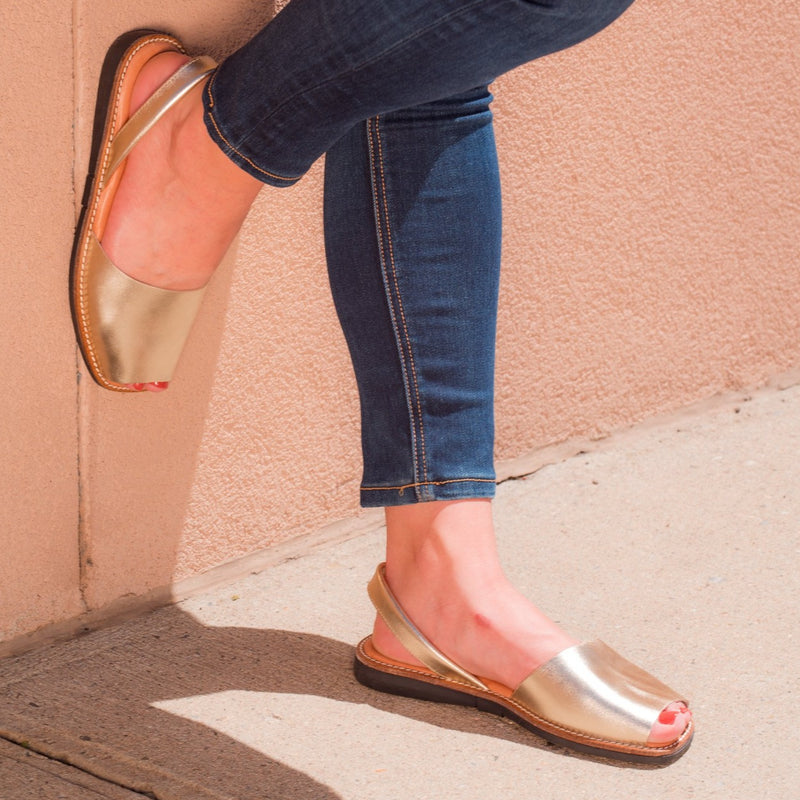 Taylor Casual Flat Sandal - Gold