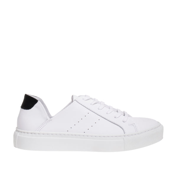 Liberty Cutout Ankle Sneaker - White/ Black