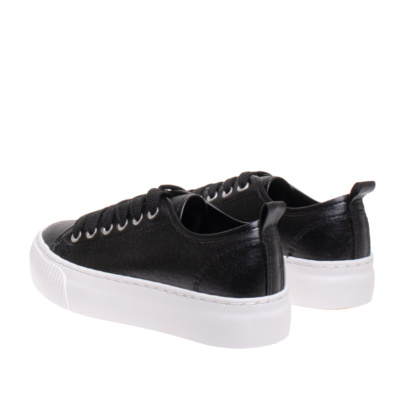 Madison Metallic Platform Sneaker - Black