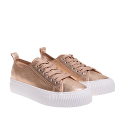 Madison Metallic Platform Sneaker - Rose Gold