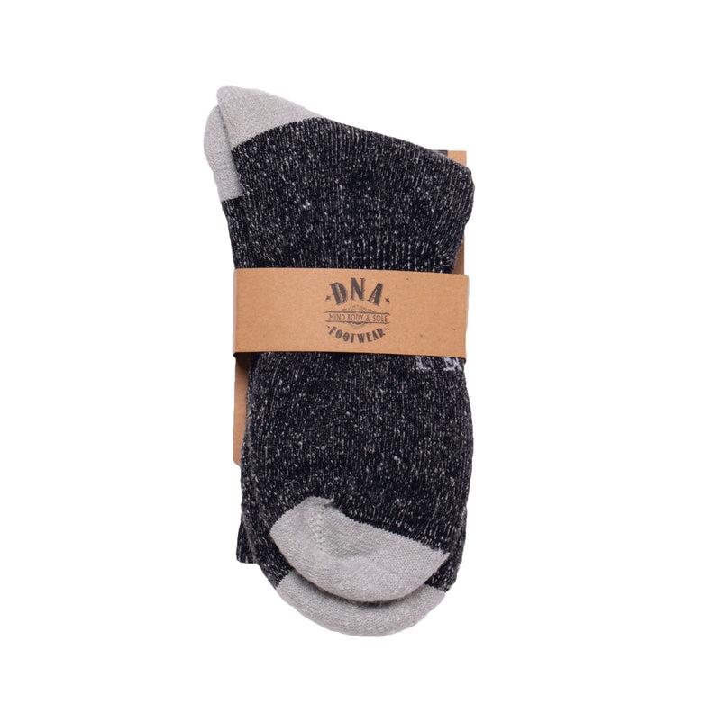 Manor Unisex Wool Socks - Black