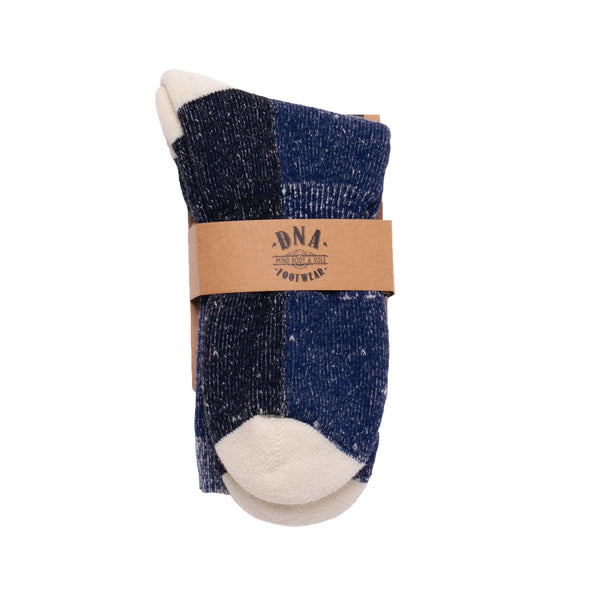 Manor Unisex Wool Socks - Navy