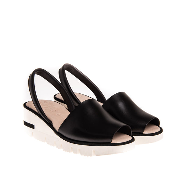 Morgan High Wedge Sandal - Black