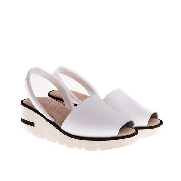 Morgan High Wedge Sandal - White