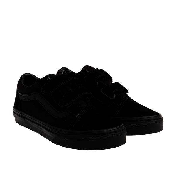 Youth Old School Velcro Sneaker - Black/Black
