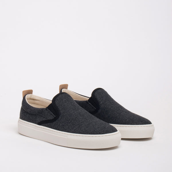 Olive Sustainable Slip-on Sneaker - Coal - DNAFOOTWEAR