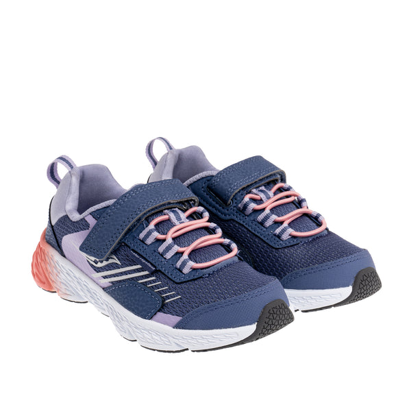 Big Kid's Wind Shield A/C Sneaker - Blue/Lavendar