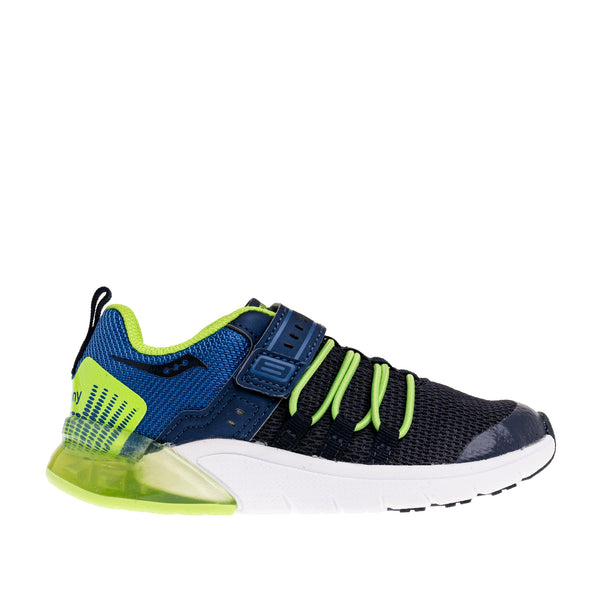 Big Kid's Flash Glow 2.0 Sneaker - Navy/Green