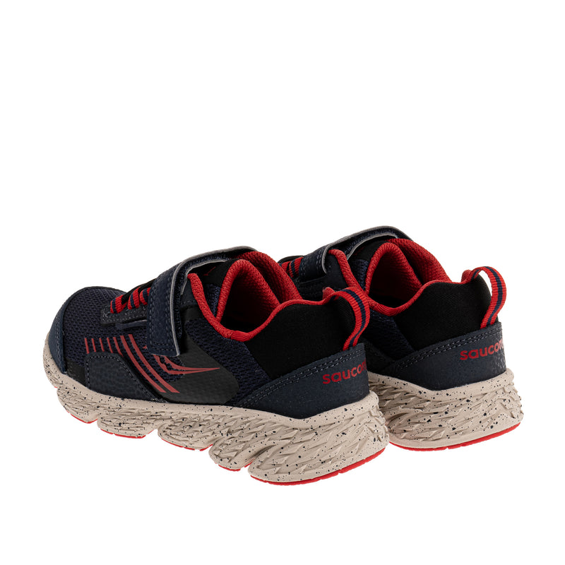 Big Kid's Wind Shield A/C Sneaker - Navy/Red