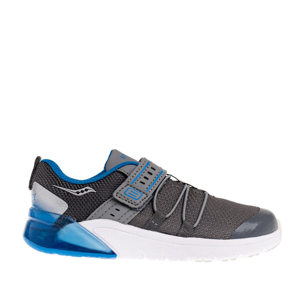 Little Kid's Flash Glow 2.0 Jr. Sneaker - Grey/Blue